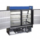 """Kool-It KGL-RS-60-S 60-1/2"""" Vertical Open Air Cooler with Low Profile Case Front and Rear Loading Electric Shutter"""