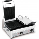 Eurodib SFE02375 Left Side Flat and Right Side Ribbed Large Panini Grill