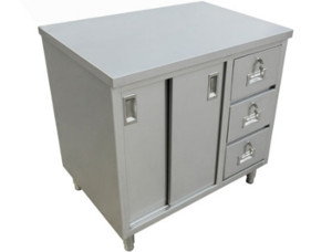Drawer Worktables with Cabinets