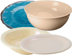 Melamine Dinnerware and Displayware
