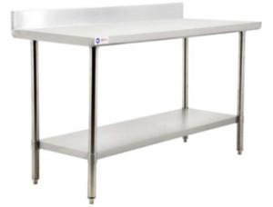 Stainless Steel Worktables with Backsplash