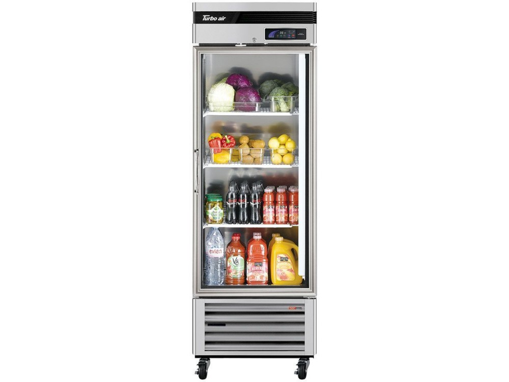 "Turbo Air TSR-23GSD-N6 Super Deluxe Series 27"" Glass Door Reach-in Refrigerator"