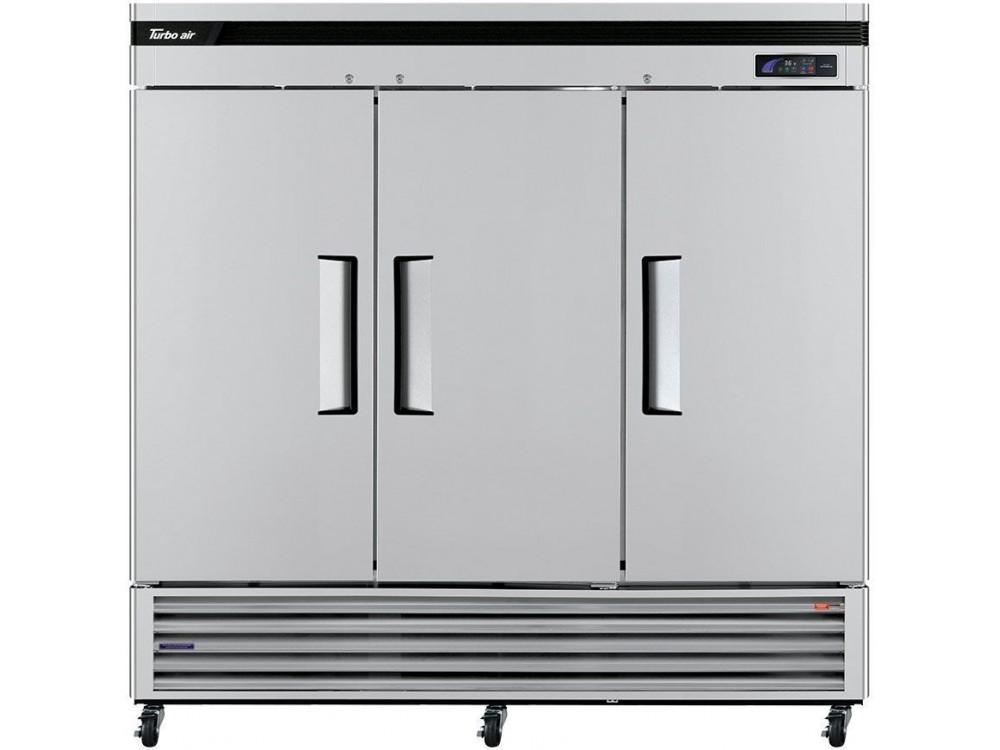 "Turbo Air TSR-72SD-N Super Deluxe Series 81"" Solid Door Reach-in Refrigerator"