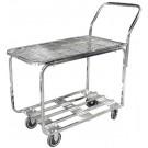Omcan 13067 Mesh Top Chrome Stocking Cart