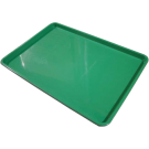 """Omcan 14243 18"""" x 26"""" Green Meat Tray"""