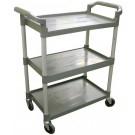 """Omcan 18306 16"""" x 24.75"""" Tray Gray Plastic Bussing Cart"""