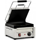 """Omcan PG-CN-0515 16"""" Grooved Top and Bottom Surface Single Panini Grill"""