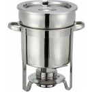 Winco 207 7 Quart Stainless Steel Soup Warmer