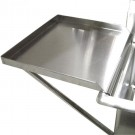 """Omcan 21142 18"""" x 18"""" Sink Removable Stainless Steel Knowckdown Drain Board"""