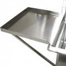 """Omcan 21143 24"""" x 24"""" Sink Removable Stainless Steel Knockdown Drain Board"""