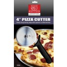 """Omcan 21875 Black Handle Retail-Ready 4"""" Pizza Cutter"""