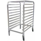 "Omcan 22128 10 slides and 3"" spacing Aluminum Round Top Pan Rack"