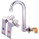 Omcan 23332 Knee Valve Assembly and Gooseneck Faucet for Sink