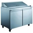 Omcan PT-CN-1524 15.12 cu. ft. Double Door Refrigerated Prep Table