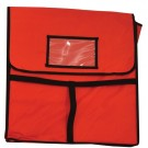 """Omcan 28352 6Pcs Two 16"""" Pizza Boxes 18"""" x 18"""" Pizza Delivery Bag"""