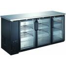 """Omcan BB-CN-0020-GH 72.75"""" Triple Glass Door Back Bar Cooler"""
