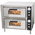 "Omcan PE-CN-3200-D 27"" Countertop Double Quartz Pizza Oven"