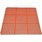 Omcan 39768 Terracotta Anti-Fatigue Mat with Interlocking Edges