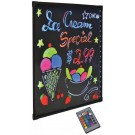 Omcan 39859 Remote Control Refined Tempered Glass LED Write-On Flash Board