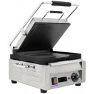"""Omcan PG-CN-0515-FT 15.4"""" Smooth Top and Bottom Surface Single Panini Grill"""