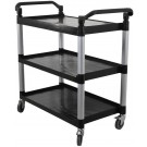 """Omcan 43069 19.5"""" x 31"""" tray size Black Plastic Bussing Cart"""