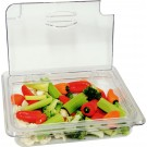 Omcan 43639 1/2 Polycarbonate Clear Flip Lid with Gap