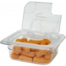 Omcan 43641 1/6 Polycarbonate Clear Flip Lid with Gap