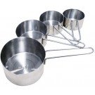 Omcan 44450 4 pcs Stainless Steel Measuring Cup Set