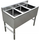 Omcan 44601 3 Compartments Under Bar Sink