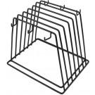 Omcan 80128 Vinyl Coated Black Cutting Board Rack with 6 Slots