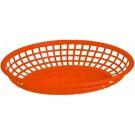 "Omcan 80360 12Pcs 9"" x 5"" Red Plastic Oval Basket"
