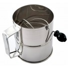 Omcan 80424 12Pcs 8-cup Stainless Steel Rotary Sifter