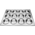 Omcan 80628 12-Cup Aluminum Muffin Pan