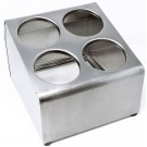 Omcan 80816 4 holes Stainless Steel Flatware Cylinder Holder