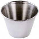 Omcan 80822 2 1/2 oz Stainless Steel Sauce Cup