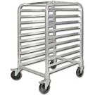"Winco ALRK-10 Aluminum 3"" spacing 10 Tier Sheet Pan Rack"