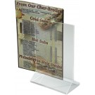 Winco ATCH-46 Double Sided Clear 4 x 6 Acrylic Table Sign Holder