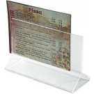 Winco ATCH-53 Double Sided Clear 5 1/2 x 3 1/2 Acrylic Table Sign Holder