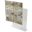 Winco ATCH-811 Double Sided Clear 8 x 11 Acrylic Table Sign Holder
