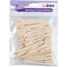 Winco BFM-A100 Pack of Bamboo Food Marker
