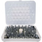 Winco CDT-52 52 Tips Cake Decorating Set