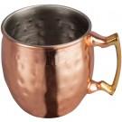 Winco CMM-2H  2 Oz Hammered Mini Moscow Mule Mug