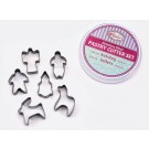 Winco CST-33 6 Pieces Holiday Cookie Cutter Set