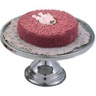 """Omcan 80804 13"""" Stainless Steel Cake Stand"""