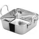 "Winco DDSB-101S Stainless Steel 4-1/2"" Square Mini Roasting Pan"