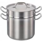 Omcan 80246 12 QT Stainless Steel Double Boiler Set