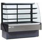 "Kool-It KBD-CG-80-D 80""W Non-Refrigerated Curved Glass Bakery Case"