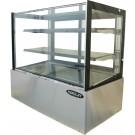 """Kool-It KBF-60D 59""""L Dry Case Flat Glass Display Case"""