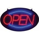 """Winco LED-10 """"Open"""" 3 Pattern Dust Cover LED Sign"""