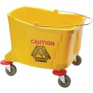 Winco MPB-36B Yellow 6 Quart Mop Bucket for MPB-36